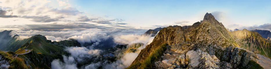 Panorama of the surrounding area Swinica, Tatra Mountains