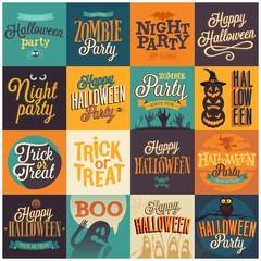 Halloween emblems set.