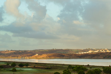 Guadiana River on a cloudy morning