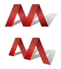 Red letter of Logotype M