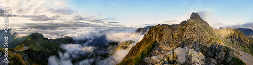 Foto op Aluminium Bergen Panorama of the surrounding area Swinica, Tatra Mountains