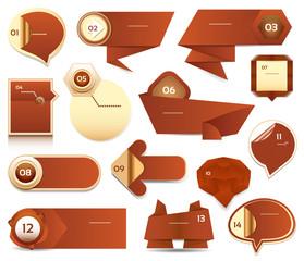 Modern infographics options banner. Vector illustration.