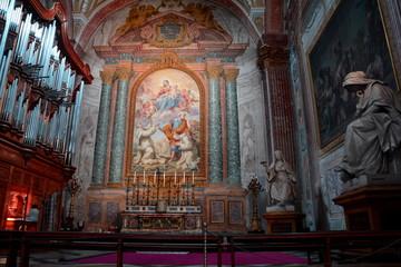 Inside the church of Santa Maria degli Anegeli.
