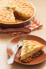 shepherd's pie is a casserole of mashed potatoes and minced meat