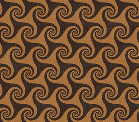 Seamless pattern with swirls, JPG contains clipping path
