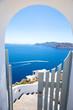 Leinwanddruck Bild - Wundervolle Aussicht, Santorini