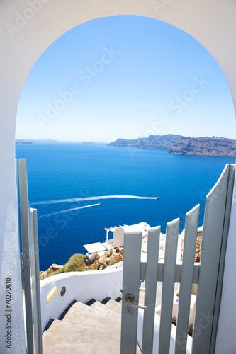 Leinwanddruck Bild Wundervolle Aussicht, Santorini