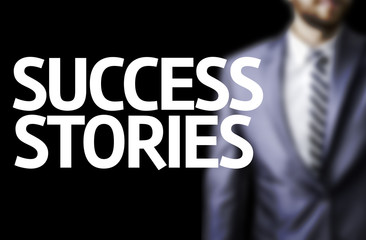 Success Stories written on a board