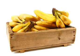 Bananas in an old box