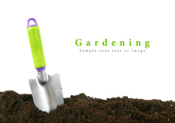 Gardening. The garden tool on earth.