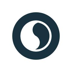 yin yang circle background icon.
