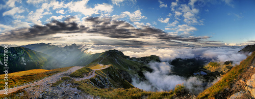 Beautiful view of Tatra mountains, Swinica, Poland