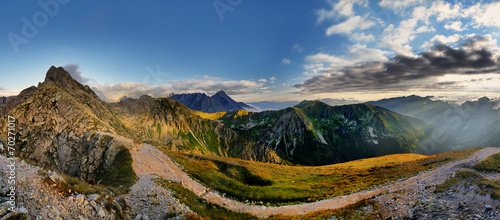 Beautiful panorama of Tatra Mountains, Świnica