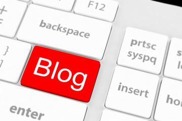 blog bloggar or inernet blogging concept with key