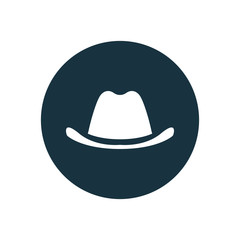 classic hat circle background icon.