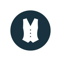 vest circle background icon.