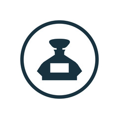 perfumery circle background icon.