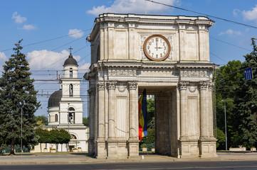 Triumphal Arch in Chisinau, Moldova