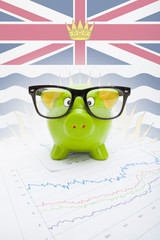 Piggy bank with Canadian province flag - British Columbia