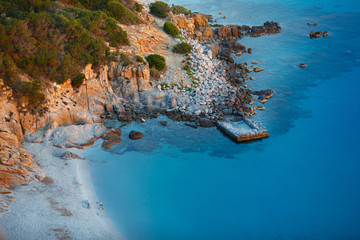 View of beautiful sea, Sardinia, Italy
