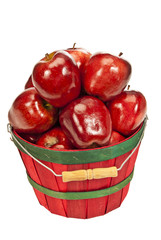 Bright Red Apples Fresh Picked