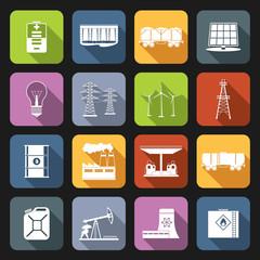 Energy Icons Flat Set