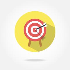 Flat target icon.