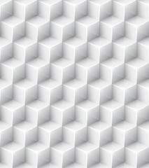 White geometric texture. Vector seamless background