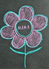 Mama - Blume zum Muttertag