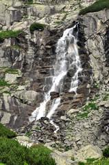Skip waterfall, mountains High Tatras, Slovakia, Europe