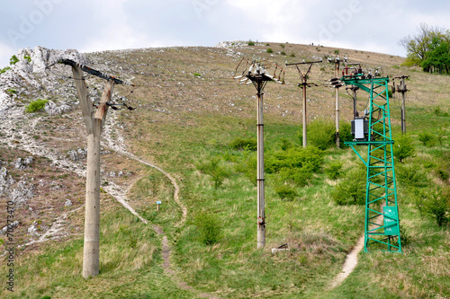 canvas print picture high voltage transformers and distribution of electrical energy
