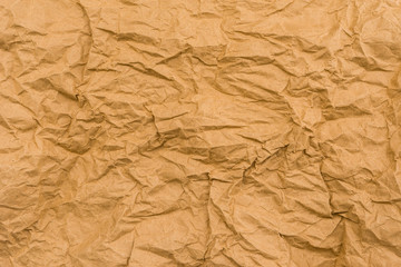 texture of wrinkled brown paper