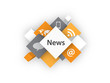 """NEWS"" cubes (live breaking feed web blog social media)"