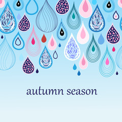 autumn background with drops