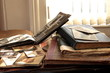 Old albums,books,newspapers and photos.