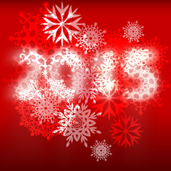 Background with snowflakes and numbers 2015