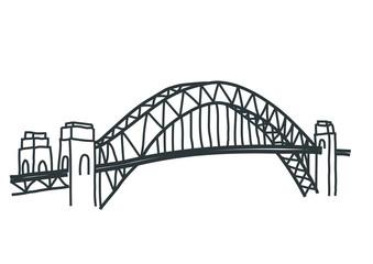 Sydney harbour bridge drawing