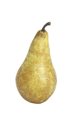 ripe juicy pear on a white background