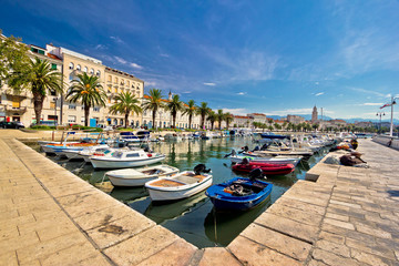 Adriatic city of Split view