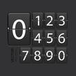 Vector modern numeric scoreboard set. - 70276227