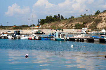Traditional Greek porto located at Chalkidiki penisnula, Greece