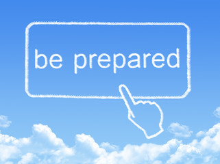 be prepared message cloud shape