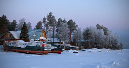 Winter landscape, Russia