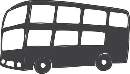 drawing of london typical doubledecker bus