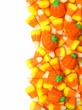 Halloween candy vertical border over white