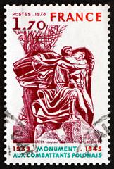 Postage stamp France 1978 Polish Veterans' Monument
