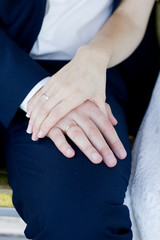 Hands with the wedding rings