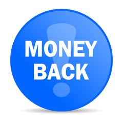 money back internet blue icon