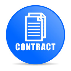 contract internet blue icon