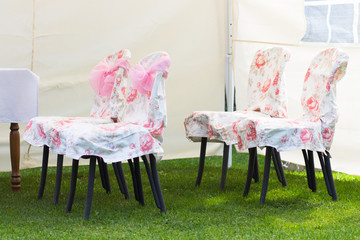 Chairs for wedding couple